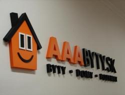 AAA Byty - nástěnná cedule