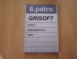 Grisoft - dveřní cedulka (hliníkový systém Cosign Indoor)
