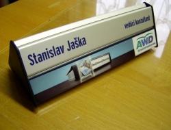 AWD - jmenovka na stůl (hliníkový systém Cosign Indoor)
