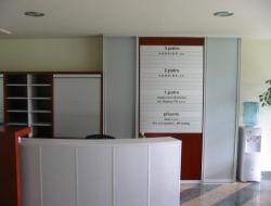 Bohdalec - hlavní info cedule (hliníkový systém Cosign Indoor)